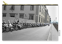 Carry-all Pouch featuring the photograph Bikes by Laurel Best