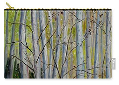 Carry-all Pouch featuring the painting Birch Forest by Julie Brugh Riffey