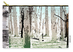 Carry-all Pouch featuring the digital art Birch Forest by Phil Perkins