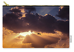 Bird In Sunrise Rays Carry-all Pouch