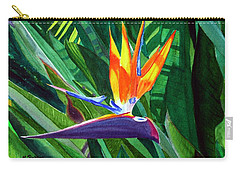 Bird-of-paradise Carry-all Pouch by Mike Robles