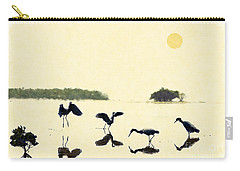 Carry-all Pouch featuring the photograph birds feeding in the Everglades by Dan Friend