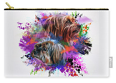 Carry-all Pouch featuring the digital art Birthday Boy Shel by Kathy Tarochione