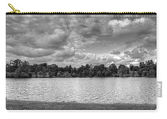 Carry-all Pouch featuring the photograph Black And White Autumn Day by Michael Frank Jr