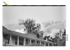 Carry-all Pouch featuring the photograph Black And White Delaware Casino by Michael Frank Jr
