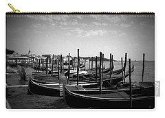 Black And White Gondolas Carry-all Pouch