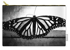 Carry-all Pouch featuring the photograph Black Butterfly by Julia Wilcox