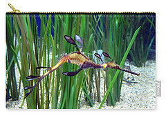 Black Dragon Seahorse Carry-all Pouch by Carla Parris