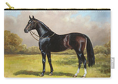 Black English Horse Carry-all Pouch