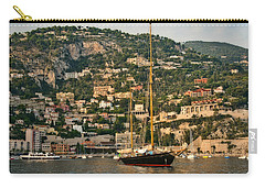 Carry-all Pouch featuring the photograph Black Sailboat by Steven Sparks