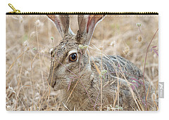 Carry-all Pouch featuring the photograph Black-tailed Hare by Doug Herr