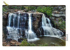 Carry-all Pouch featuring the photograph Black Water Falls by Mark Dodd