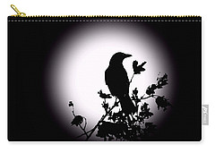 Blackbird In Silhouette  Carry-all Pouch by David Dehner
