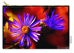 Blooming Asters Carry-all Pouch by Susanne Still
