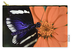 Blue And White Longwing Carry-all Pouch
