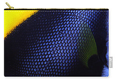 Blue And Yellow Scales Carry-all Pouch