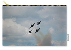 Blue Angels Roaring By Carry-all Pouch by Randy J Heath