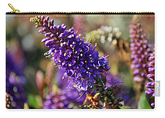 Carry-all Pouch featuring the photograph Blue Brush Bloom by Tikvah's Hope