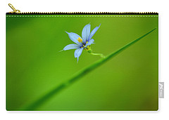 Carry-all Pouch featuring the photograph Blue-eyed Grass by JD Grimes
