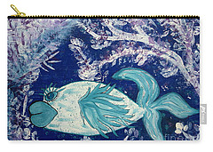 Blue Fish Called Flow Carry-all Pouch