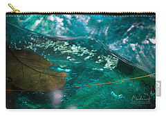 Blue Glass Bird Bath Carry-all Pouch