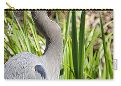 Carry-all Pouch featuring the photograph Blue Heron by Marilyn Wilson