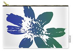 Carry-all Pouch featuring the photograph Blue In Bloom by Lauren Radke