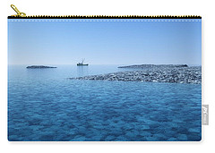 Carry-all Pouch featuring the digital art Blue Infinity... by Tim Fillingim