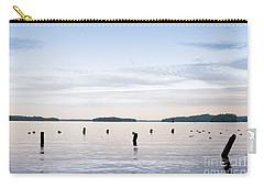 Carry-all Pouch featuring the photograph Blue Lake Muskoka by Les Palenik