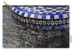 Blue Mosaic Fountain II Carry-all Pouch