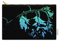 Blue On Black Carry-all Pouch