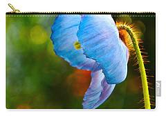 Blue Poppy Dreams Carry-all Pouch by Byron Varvarigos
