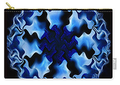 Blue Ripple Carry-all Pouch by Danuta Bennett