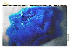 Carry-all Pouch featuring the digital art Blue Rose by Debbie Portwood