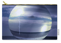 Carry-all Pouch featuring the photograph Blue Sea Hover Bubble by Vicki Ferrari
