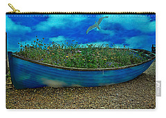 Carry-all Pouch featuring the photograph Blue Sky Boat  by Chris Lord