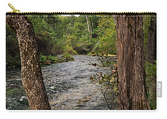 Carry-all Pouch featuring the photograph Blue Spring Branch by Marty Koch