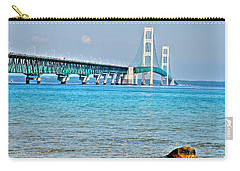Blue Water In The Straits Of Mackinac Carry-all Pouch