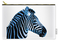 Carry-all Pouch featuring the photograph Blue Zebra Art by Rebecca Margraf