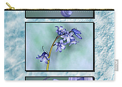 Carry-all Pouch featuring the photograph Bluebell Triptych by Steve Purnell