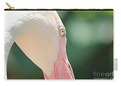 Carry-all Pouch featuring the photograph Blushing Flamingo by Nola Lee Kelsey