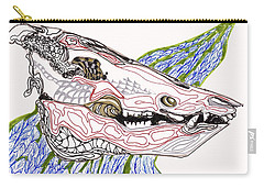 Boar Skull Ink Carry-all Pouch