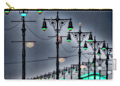 Carry-all Pouch featuring the photograph Boardwalk Lights by Chris Lord
