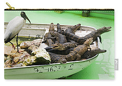 Boat Full Of Alligators  Carry-all Pouch