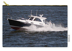 Boating On The Bay Carry-all Pouch by Karen Harrison