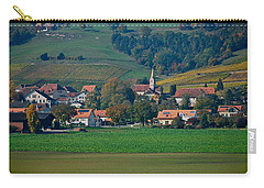 Carry-all Pouch featuring the photograph Bonvillars by Eric Tressler