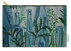 Carry-all Pouch featuring the painting Bottle Brigade by Julie Brugh Riffey