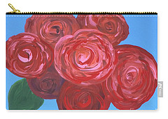 Carry-all Pouch featuring the painting Bouquet Of Roses by Alys Caviness-Gober