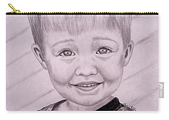 Carry-all Pouch featuring the drawing Brady by Julie Brugh Riffey