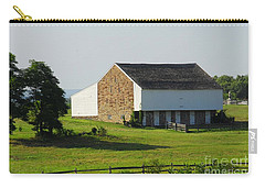 Carry-all Pouch featuring the photograph Brian Barn At Gettysburg by Cindy Manero